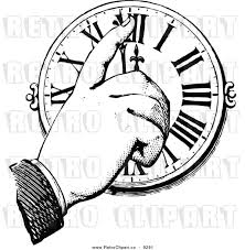 hand moving clock hands indicating time change